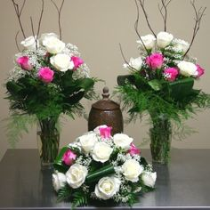 Funeral Flower Arrangements for Urns patriotic | Flowers product: Funeral Urn Arrangements with Roses