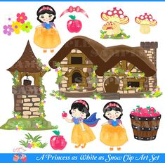 A Princess as White as Snow Clip Art Set by 1EverythingNice, $5.00