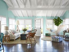House of the Year 2013: A Breezy Point Bungalow Makeover - I need this ceiling.