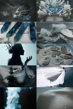 mermaid witch aesthetic (requested) { more here } { request here } Witch Aesthetic, Aesthetic Collage, Blue Aesthetic, Wiccan, Magick, Witchcraft, Water Witch, Sea Witch, Foto Fantasy