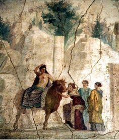 el rapto de europa. fresco de pompeya