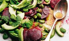 "Yotam Ottolenghi's beetroot and avocado salad recipe (I love how the Brits always refer to it as 'beetroot' makes me think of Mark Darcy in ""Bridget Jones's Diary)"