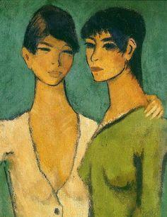 Otto Mueller, Two Girls