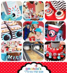 Bowling Party Invitation - Bowling Birthday Invitation by Amanda's Parties TO GO. $14.00, via Etsy.