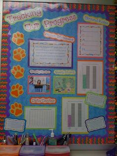 Data bulletin board for classroom