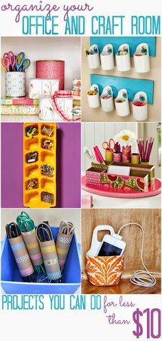 Easy ways to organize your office and craft room! For all of your DIY and organization needs check out Walgreens.com!