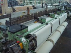 METM/100-99 Sulzer Looms (Type PU) Width 130 Inches (D2) #weaving #loom #looms #sulzer #textile #machines #manufacturing #industrials