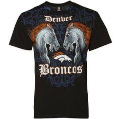 Denver Broncos Black Faceoff T-shirt