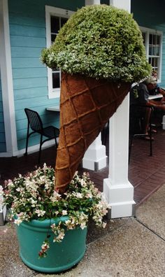 ice cream cone topiary for ice cream social soiree