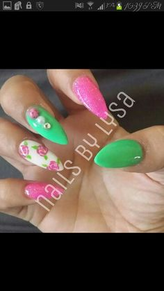 #Roses #pink #green