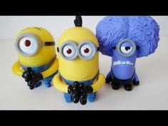 Despicable Me 2 McDonald's Happy Meal toys Purple Minion, Stuart and Tim.