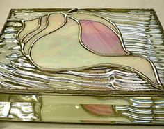 STAINED GLASS Jewelry BOX Iris