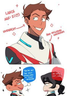 i too am an undercut lance enthusiast (also yet another oneshot dj idea that i have) << HECK YES Voltron Klance, Voltron Comics, Voltron Memes, Voltron Fanart, Form Voltron, Voltron Ships, Shiro, Keith Lance, Samurai