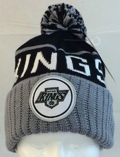 Adult Mitchell   Ness LA Kings Black Gray NHL Beanie One Size  MitchellNess   LosAngelesKings. Christopher Tolliver · skull hats aedf911af