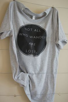Womens Not All Who Wander Fair Trade Tshirt by WanderingYouth, $15.00