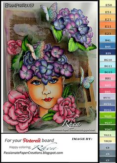 Passionate Paper Creations: Lady and Flowers - Stampendous