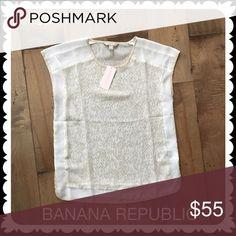 BANANA REPUBLIC   Petite Sheer Top XXS White Cream Brand new with tags! 100% Polyester.  Retail: $54.99. Banana Republic Tops Blouses