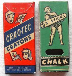 vintage packaging chalk / crayons