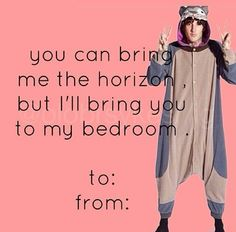 Oli Sykes and Bring Me The Horizon Valentines Day card