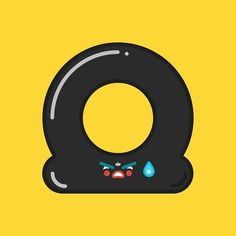 Flat tire. Today I got one of those in the middle of the rain. #tire#flat #icons  #illustration #design #outline #art #vector #graphic #graphicdesign #iconography #graphicdesignblg #graphicgang #graphicdesigncentral #thedesigntip #picame #illustree #iconaday by davegamez