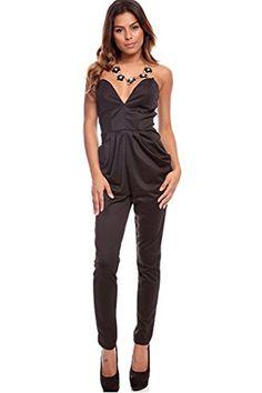 Lolli Couture DEEP V-NECKLINE SLEEVELESS LONG JUMPSUIT