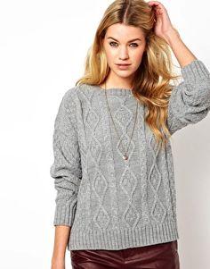 Enlarge Glamorous Aran Knit Boyfriend Sweater