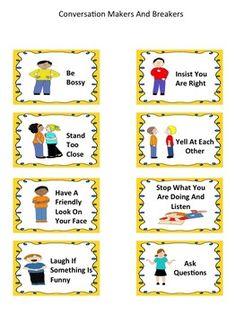 CONVERSATION BEHAVIORS: IMPROVING CONVERSATIONS - TeachersPayTeachers.com