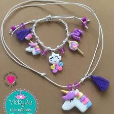 Resultado de imagen para accesorios de unicornio en masa flexible Crochet Necklace, Bracelets, Jewelry, Unicorns, Jewlery, Jewerly, Schmuck, Jewels, Jewelery