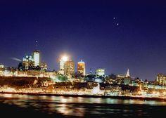Light pollution above Quebec City