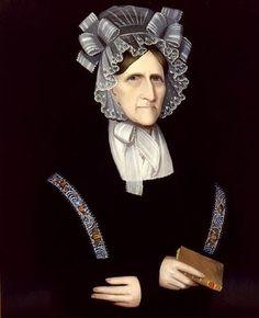 """Mrs Katherine Salisbury Newkirk Hickok,"" c 1825 by Ammi Phillips (1788-1865)"