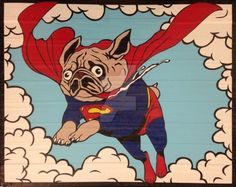 Super Pug Duct Tape Art by DuctTapeDesigns on DeviantArt
