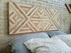 Reclaimed Wood Wall Art Queen Headboard Wood By EleventyOneStudio