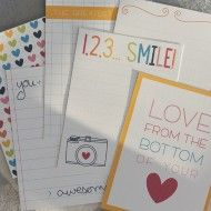 12 different free printable journaling cards from misstiina.com