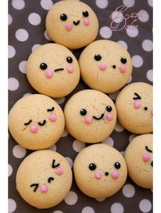 Face cookies sweet