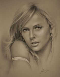 Charlize Theron….Pencil art by Dumage