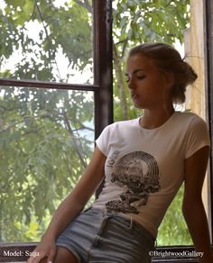 Ganesha T-shirt, Wear Art!, Hand printed T-shirts, art T-shirts, original woodcuts, original linocuts,  artist Miroslav Blaznik,  high quality T-shirts, wearable art, yoga shirt, yoga wear, zen, meditation