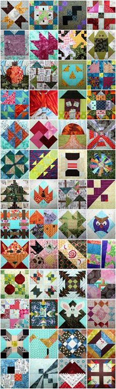 52 Twisted Traditional Block Quilt Along - 52 twisted traditional block tutorials shared on #persimondreams in 2014