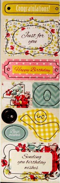 40th Birthday Chipboard Icons & Sentiments Punch-Out Die-Cuts Embellishments are available at Scrapbookfare.