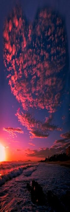 "hellacious-earth: "" etherealvistas: "" Love is in the Air….(Australia) by Reedy Photography "" Vintage // Nature "" Beautiful Sunset, Beautiful World, Wallpaper Bonitos, Heart In Nature, Pink Nature, Jolie Photo, Amazing Nature, Pretty Pictures, Mother Nature"