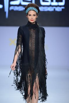 Pop elements and digital prints by Panos Apergis on the catwalk of 15th  AXDW!