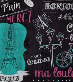 Paris Printed Burlap Fabric   Printed burlap, Burlap fabric and Burlap