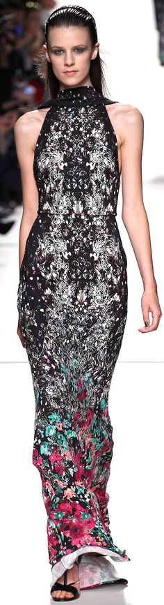 Elie Saab Spring 2014 RTW -- love that gradually colorful hem