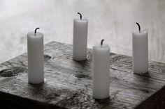 DIY - lag din egen adventstake Pillar Candles, November, Xmas, November Born, Weihnachten, Navidad, Christmas, Noel, Taper Candles