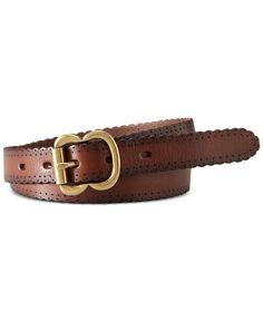Fossil Leather Scallop Jean Belt - Handbags & Accessories - Macy's