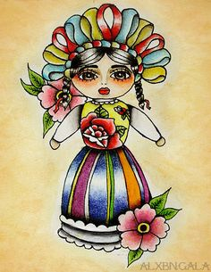 Mexican Doll Print
