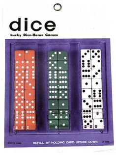 OFF or FREE SHIP -Dice Card : Good quality inlaid dice in red, green and white per card. Just the thing for magic games. 24 pair of dice per card. Halloween Express, Halloween Costumes For Kids, Party Games, Brand Names, Dice, Party Supplies, The Originals, Cards