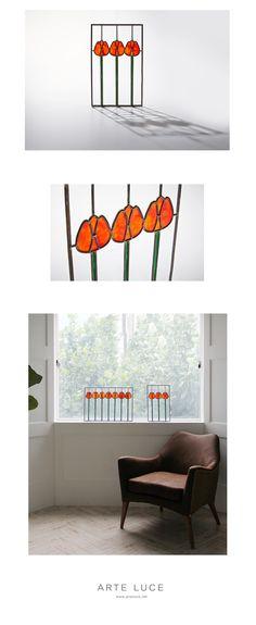 스테인드글라스-Tulip(3송이)