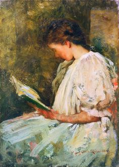 Girl Reading (1900), Mary Curtis Richardson