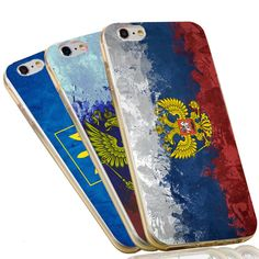 Russian Flag Soft TPU Clear Silicon Phone Case for iPhone 5S 5 SE 5C 4 4S 6 6S 7 Plus Cover