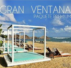 Private beach area just for guests who upgrade to Premium Packages at Gran Ventana, Puerto Plata, Dominican Republic